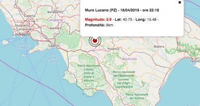 terremoto oggi basilicata 16 aprile 2019