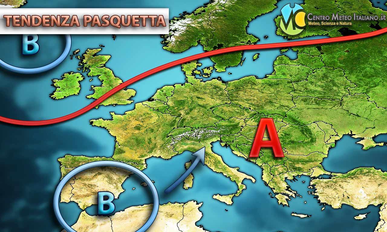 Una perturbazione potrebbe arrivare a guastare la Pasquetta sull'Italia, con piogge e temporali attesi per l'inizio della prossima settimana.