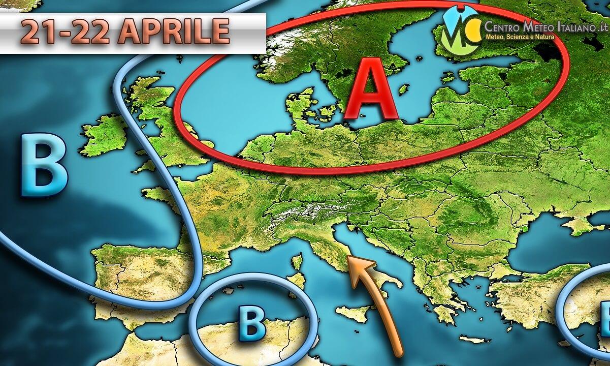Forte maltempo in Italia con piogge e temporali specie al nord.