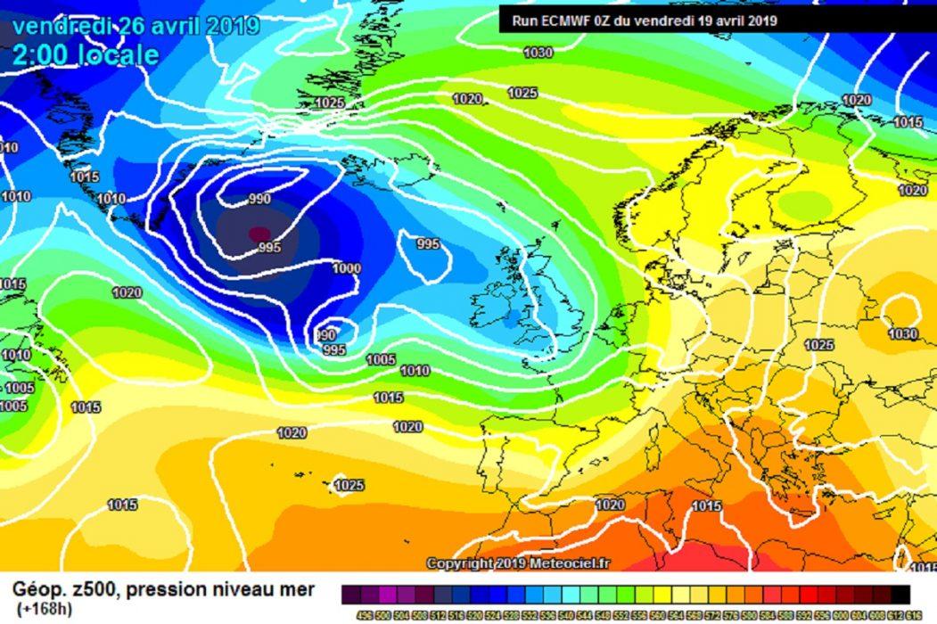 Tendenza meteo per la prossima settimana, modello meteo ECMWF fonte meteociel.fr
