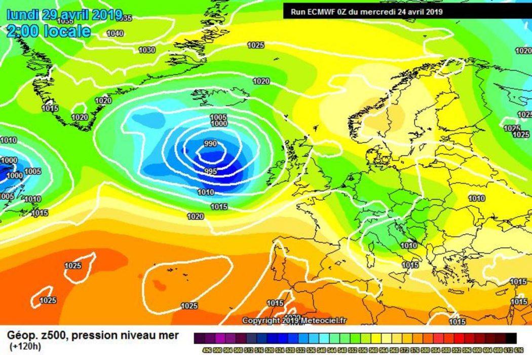 Nuova perturbazione in arrivo dal weekend secondo il modello ECMWF - meteociel.fr