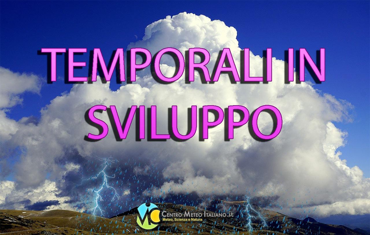 Temporali e grandinate previste in gran parte dell' Italia durante il prossimo weekend.