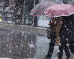 Neve fino a quote molto basse in queste ore in Italia. Foto Giancarlo Angione.