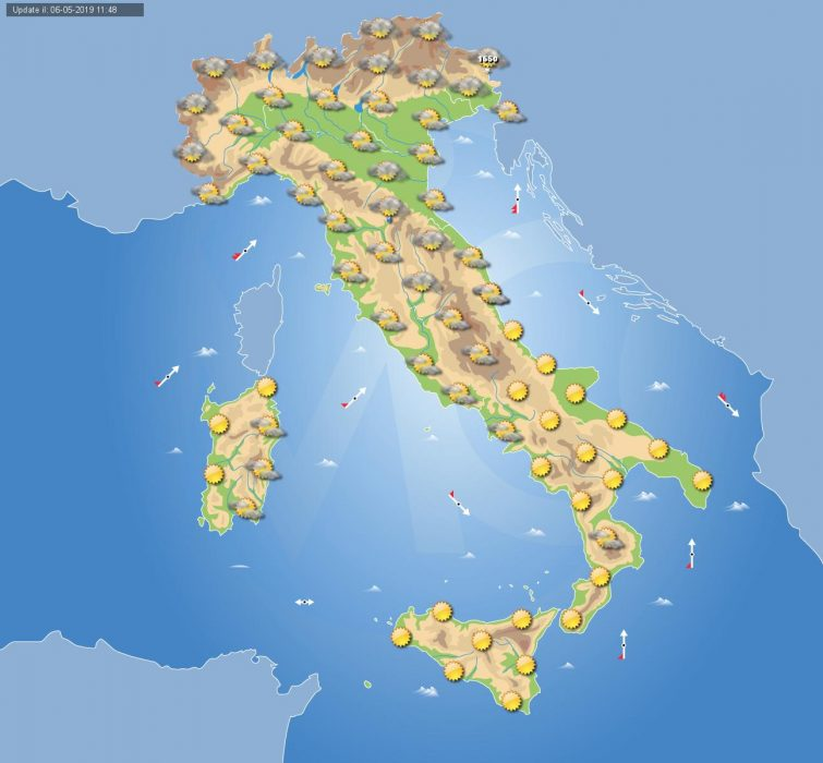 METEO ITALIA. MALTEMPO entro stanotte al Nord, in parte coinvolto il Centro. Ultimi aggiornamenti