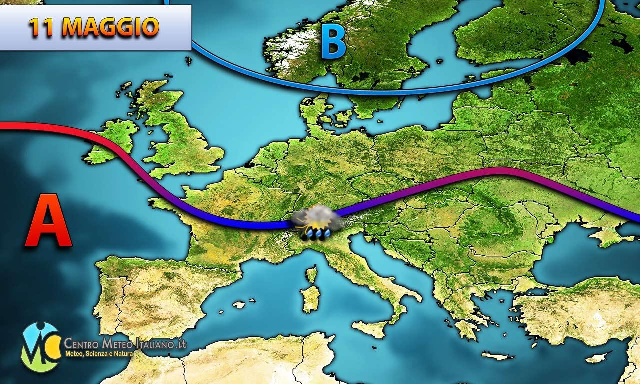 Dal Nord Europa ancora freddo e pioggia