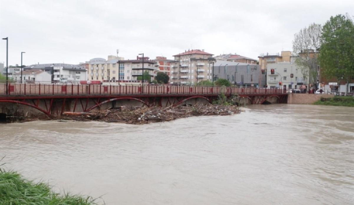 Esonda il fiume Savio in queste ore, Lunedì 13 Maggio. Fonte TeleRomagna24