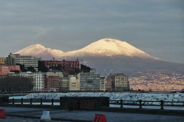 Possibili fiocchi di neve in arrivo sul Vesuvio. Fonte roadtvitalia.it