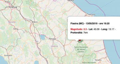 Terremoto oggi Marche