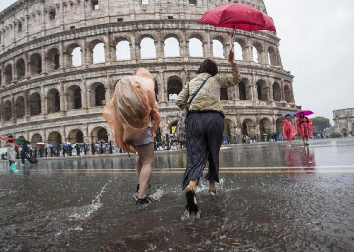 Maltempo a Roma nella giornata odierna.