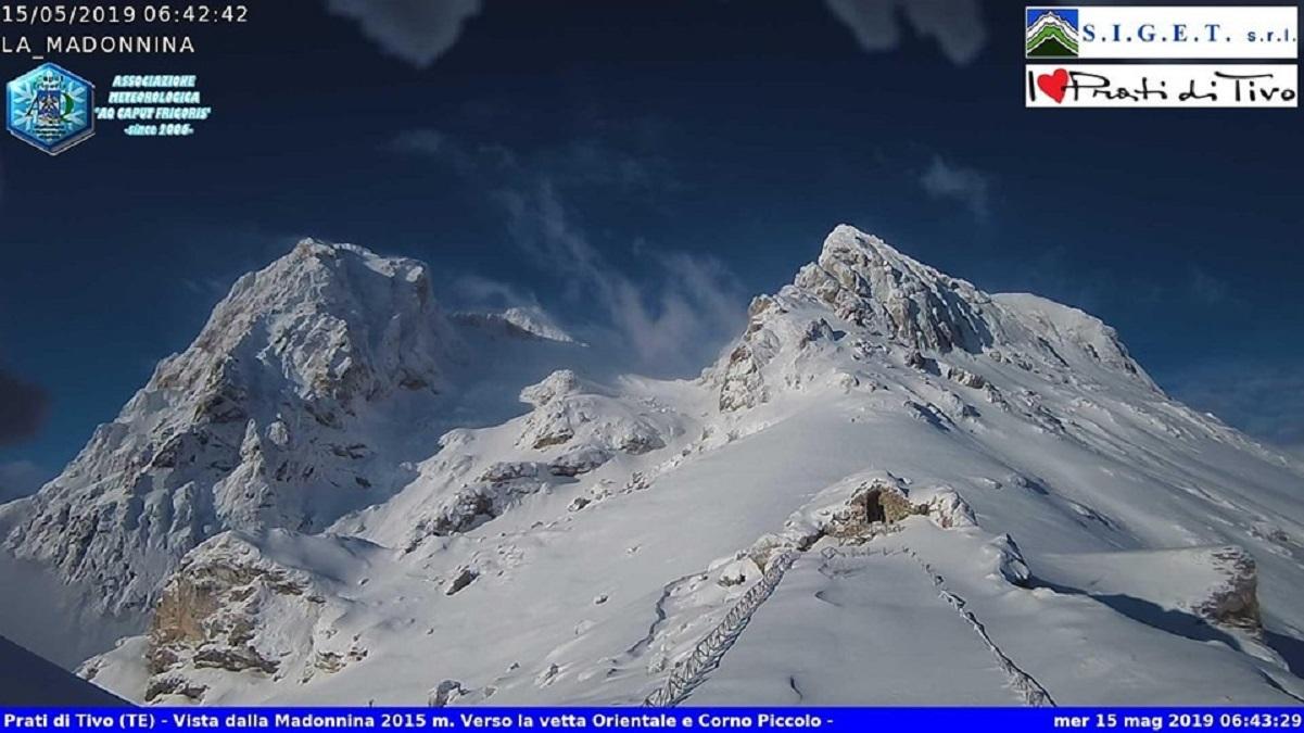 Nevicate tardive in montagna in queste ore, fonte caputfrigoris.it