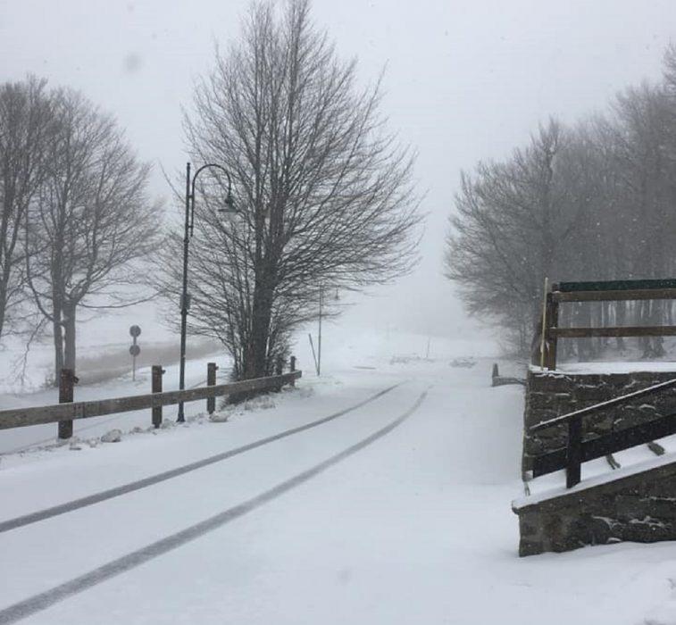 Neve in Italia fino a quote collinari in queste ore in Emilia Romagna, Marche e Sardegna. Foto Carpe Diem