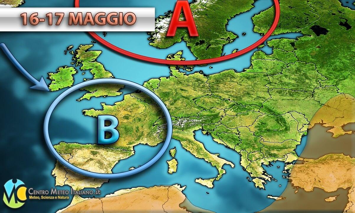 Tempo previsto in Italia, peggioramento in arrivo da domani al nord-ovest Italia
