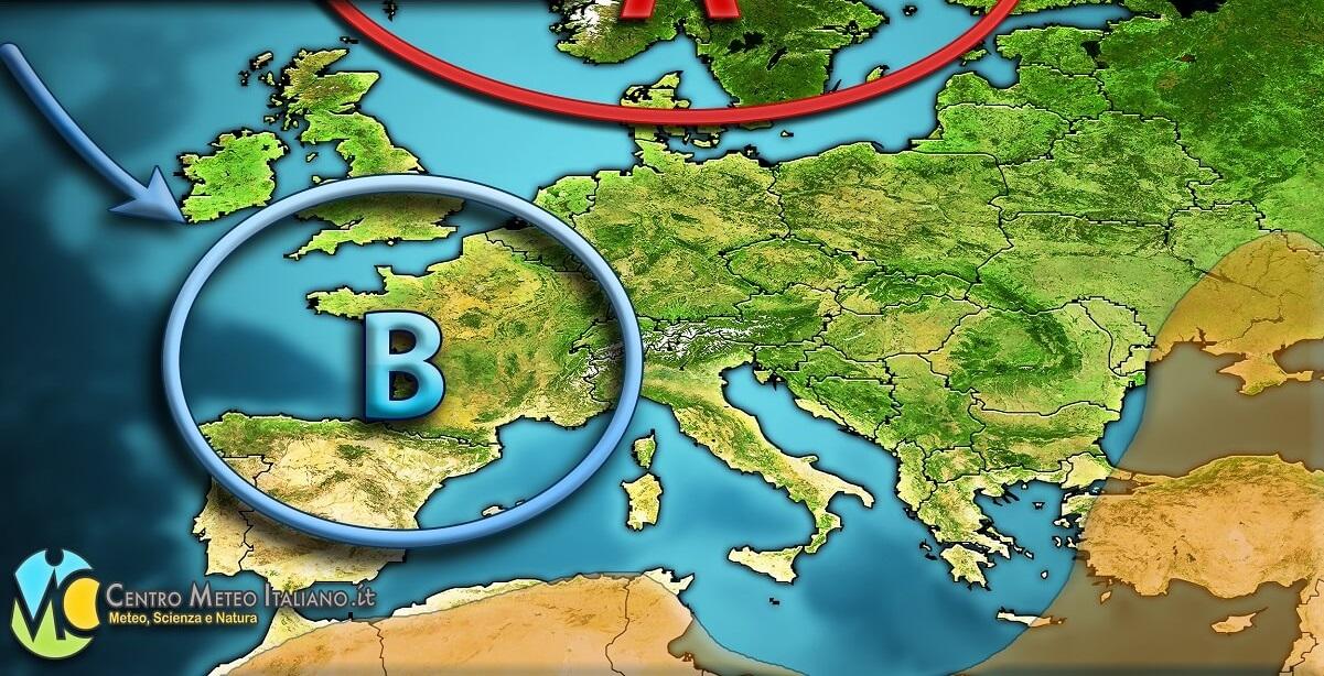 Tempo previsto in Italia per le prossime ore.