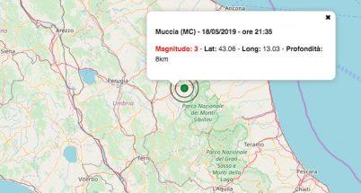 terremoto oggi marche 18 maggio 2019