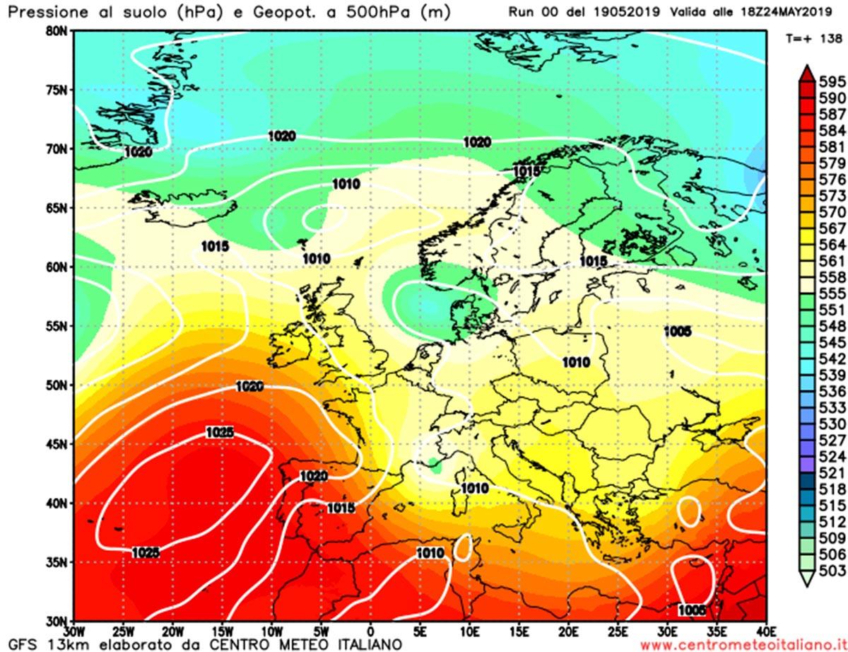 Nuova perturbazione atlantica in arrivo nel fine settimana