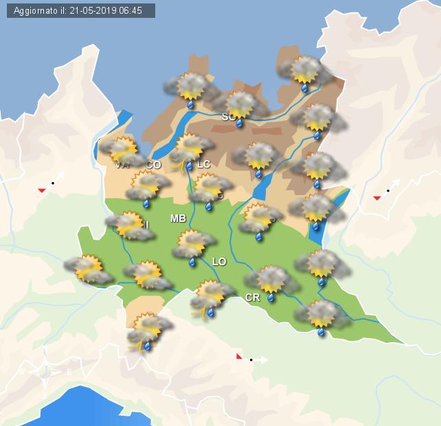 Locali fenomeni di stampo pomeridiano sulla Lombardia nei prossimi giorni