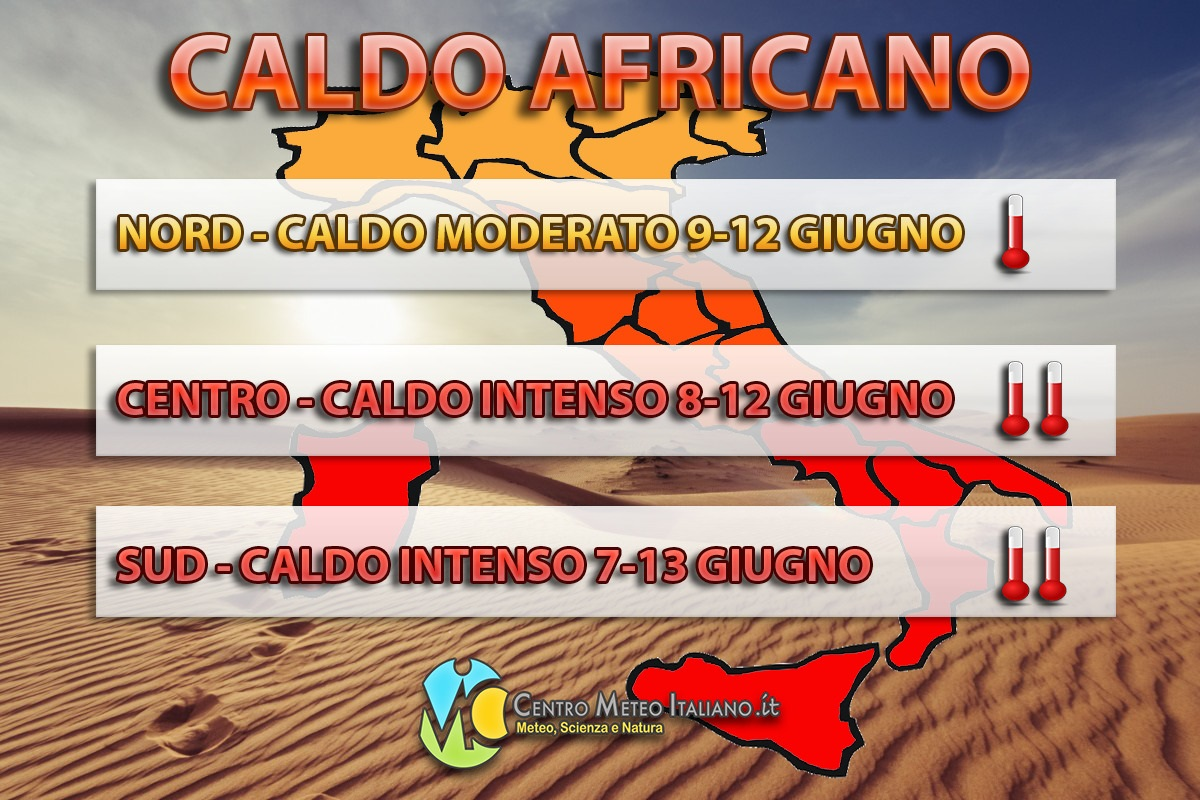 Ondata di caldo in Italia nei prossimi giorni, con le temperature che potranno sfiorare anche i +40°C specie sulle zone interne del Sud.