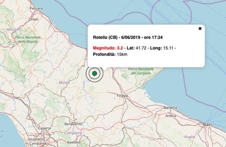 Terremoto oggi Molise, 6 giugno 2019: scossa M 3.2 in provincia di Campobasso – Dati INGV