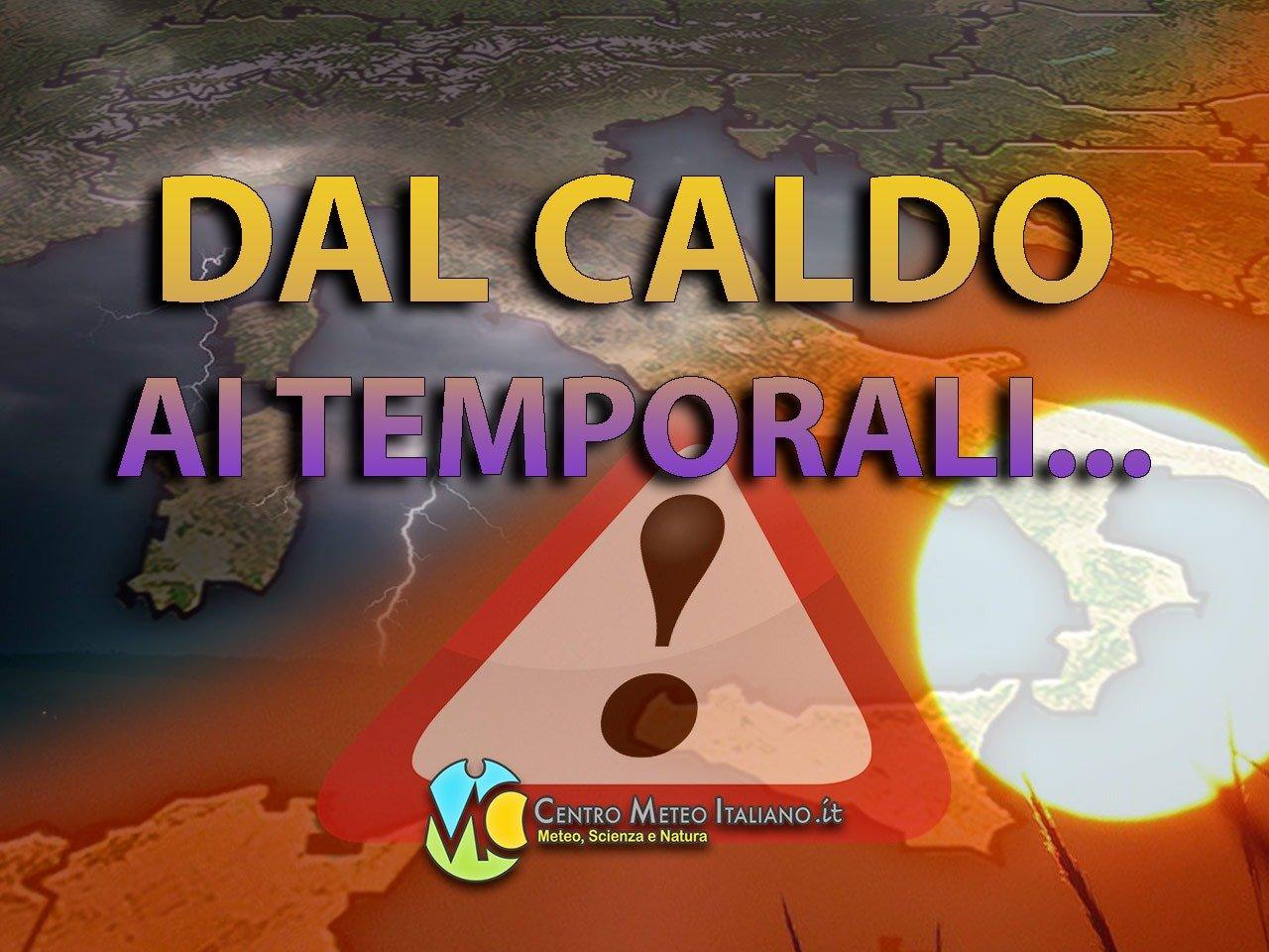 Possibili temporali pomeridiani sull'Italia