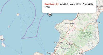 terremoto oggi calabria 12 giugno 2019