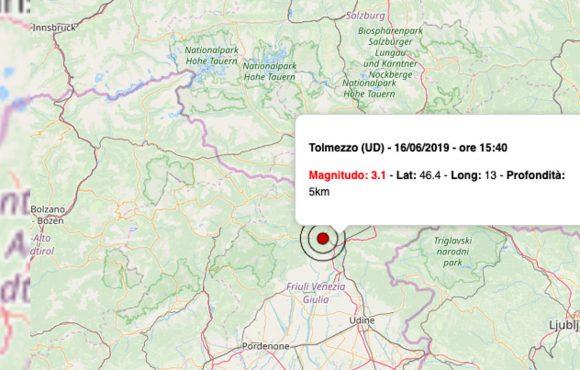 Terremoto oggi 16 giugno 2019