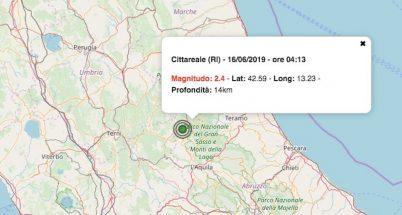 terremoto oggi lazio 16 giugno 2019