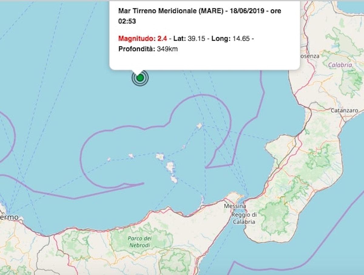 terremoto oggi 18 giugno 2019
