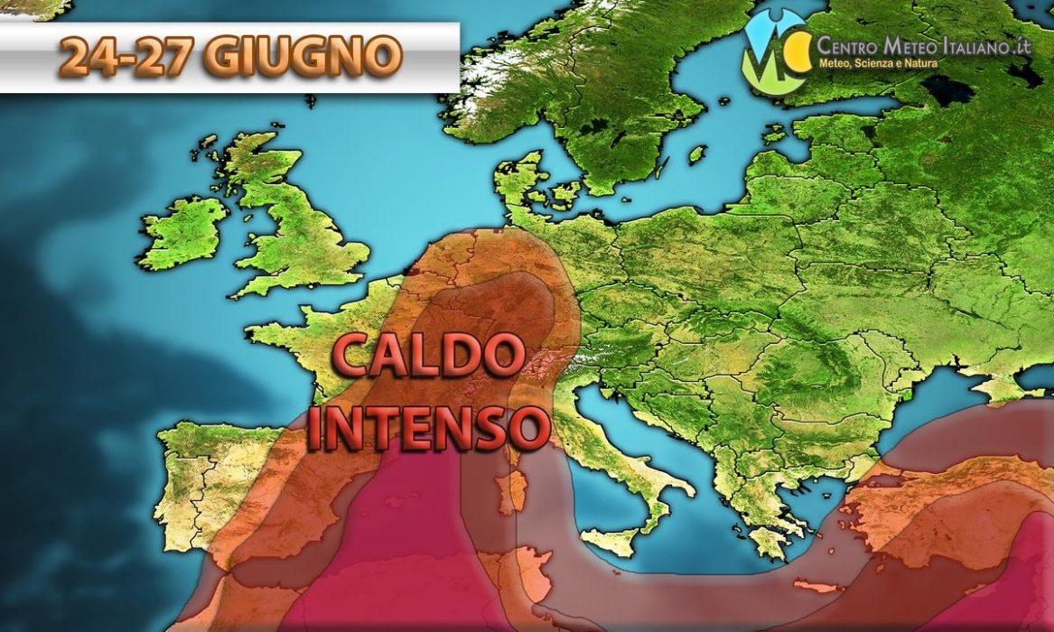 Ondata di caldo africano verso l'Europa
