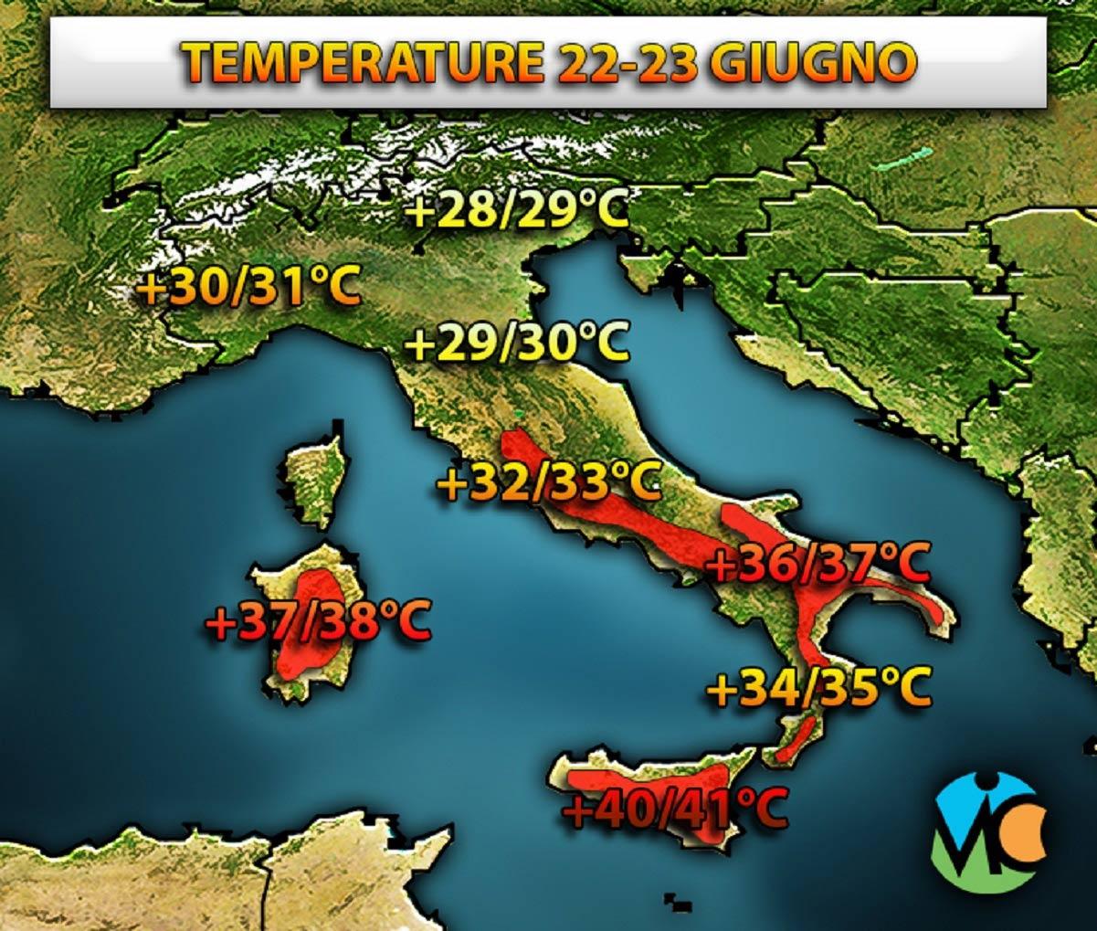 Temperature in aumento in vista del prossimo weekend, con l'anticiclone africano che tornerà ad espandersi verso l'Italia.