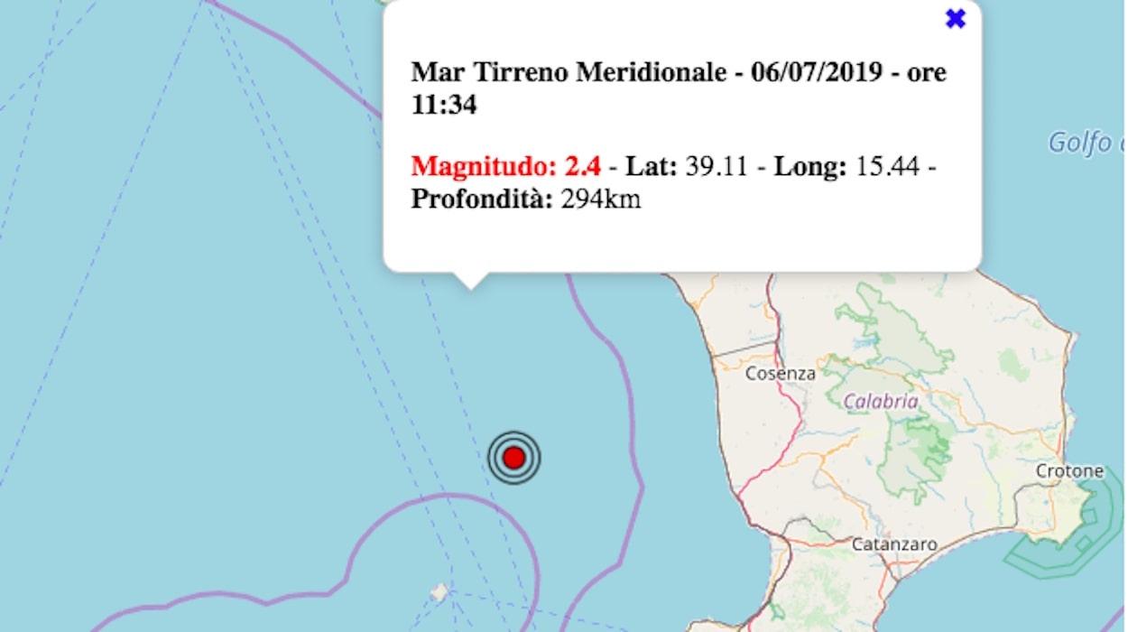 Terremoto in Calabria oggi, sabato 6 luglio 2019: scossa ...