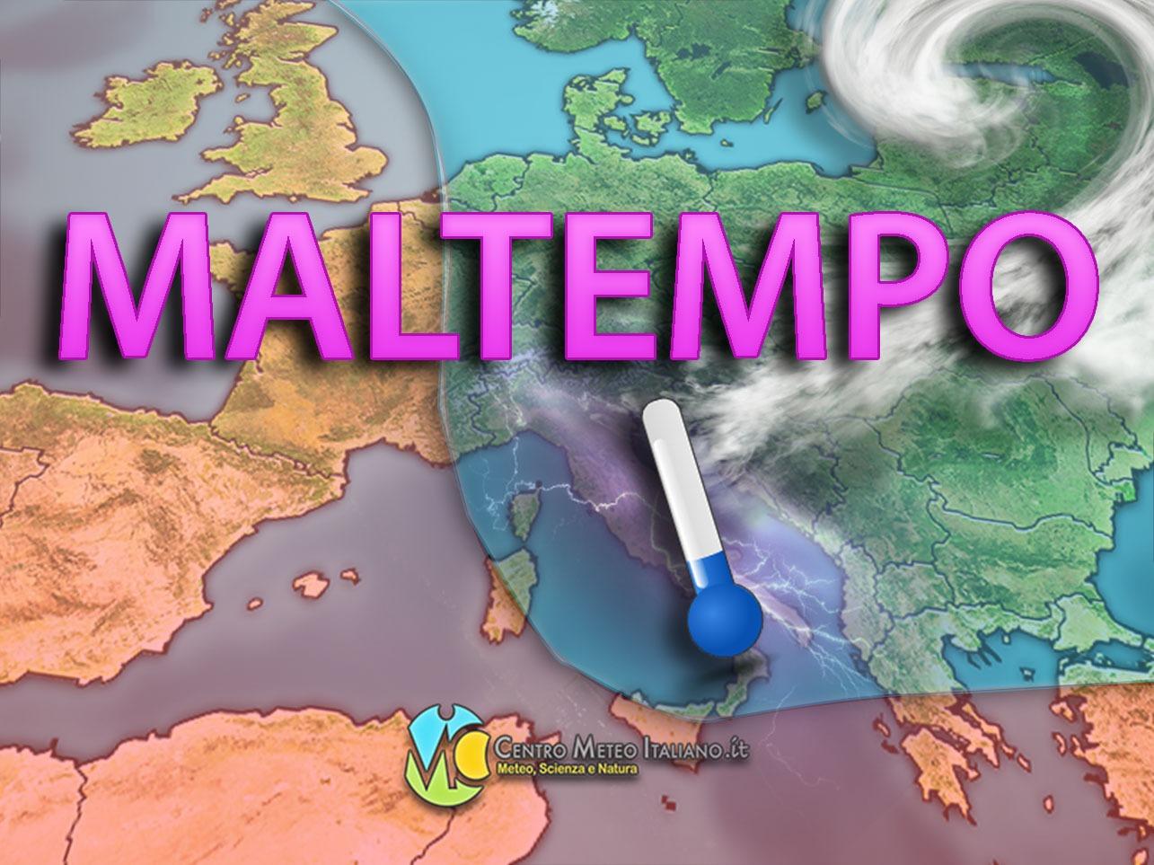 Goccia fredda in rotta verso il Mediterraneo