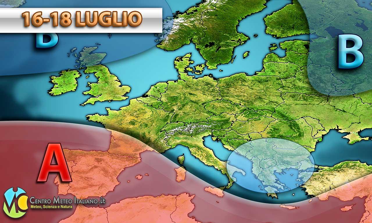 Prossimi giorni con maltempo verso il Sud Italia