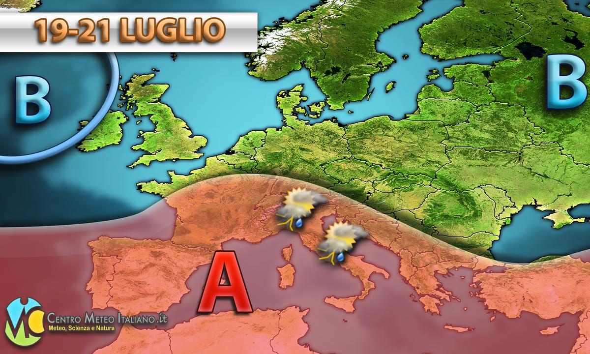 Anticiclone delle Azzorre e possibili temporali in Italia