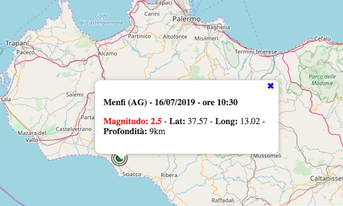 terremoto oggi 16 luglio 2019
