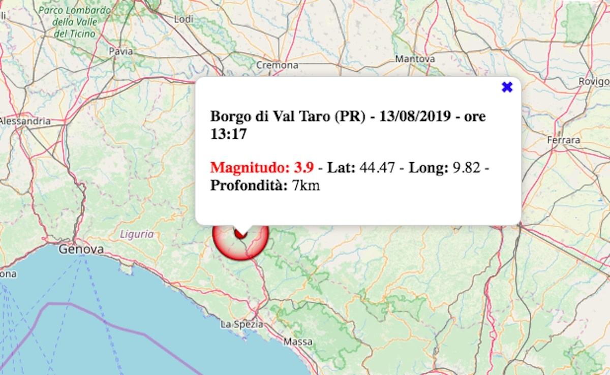 terremoto oggi 13 agosto 2019 emilia-romagna