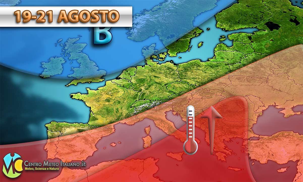 Nuova ondata di caldo sull'Italia con temperature fino a 4-5°C sopra media per l'inizio della prossima settimana.