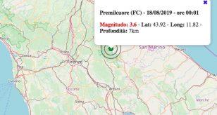 terremoto 18 agosto 2019 emilila-romagna