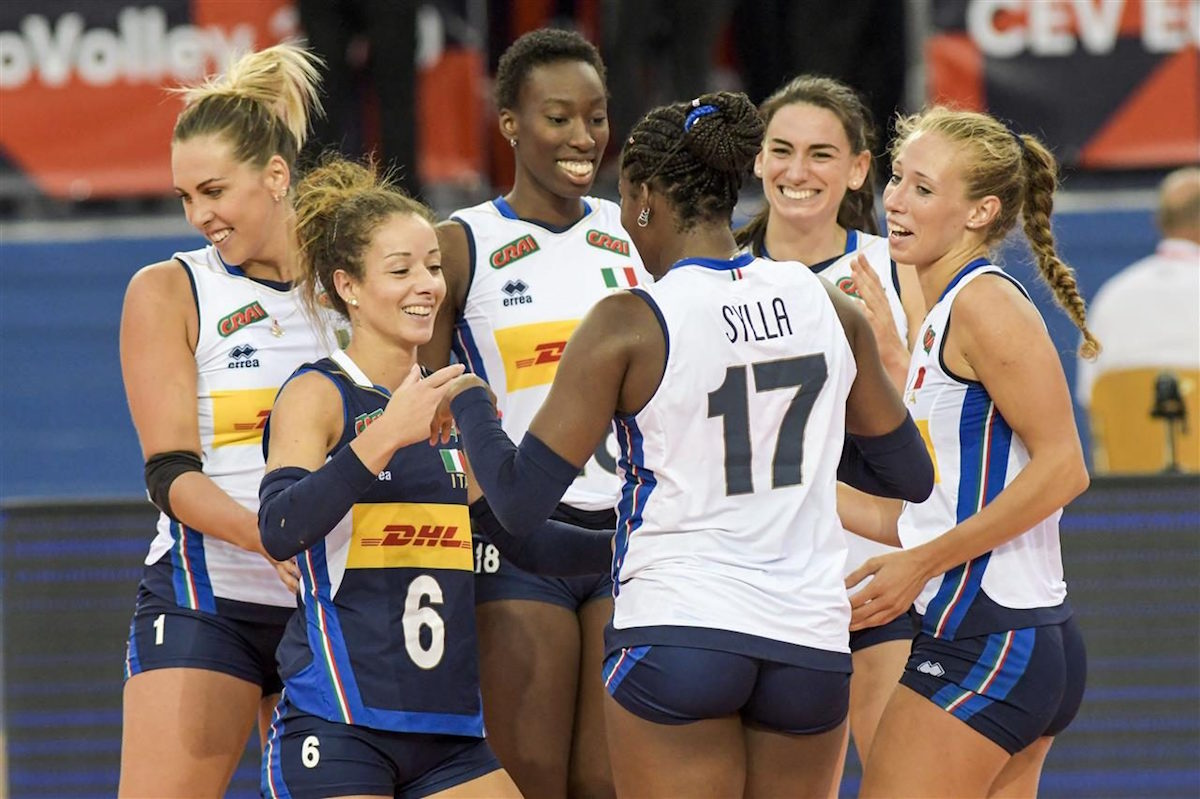 Calendario Italia Basket Europei.Volley Femminile Europei 2019 Italia Slovacchia Orario Tv