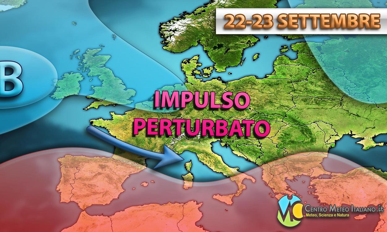 Serie di impulsi perturbati verso l'Italia, autunno avanti tutta