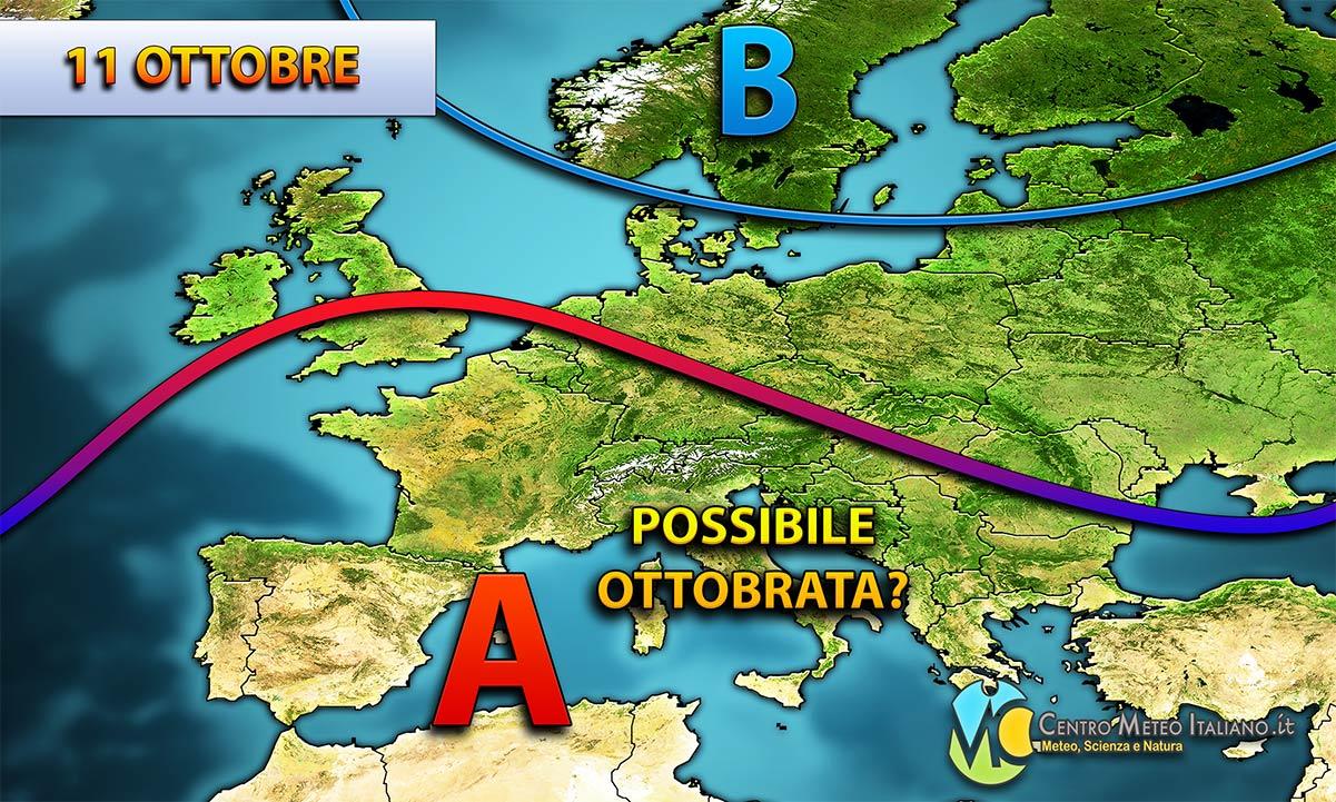 Ottobrata in Italia a partire da venerdì 11 ottobre, quando tornerà ad espandersi l'anticiclone.