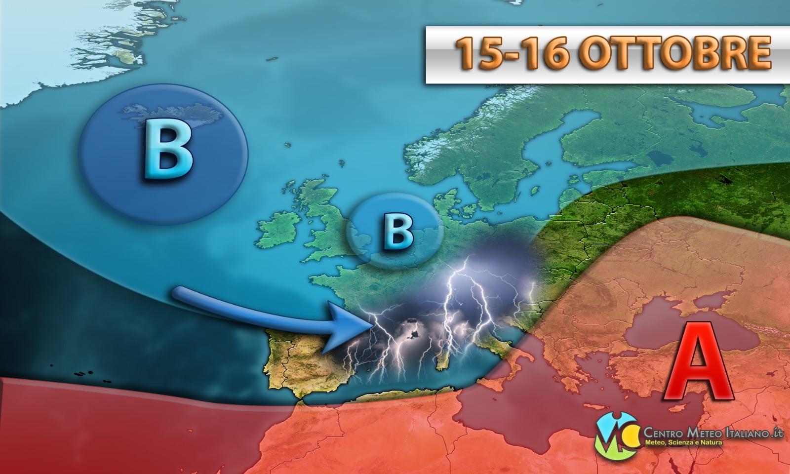 Maltempo in Italia a partire dalla prossima settimana, secondo il modello GFS.