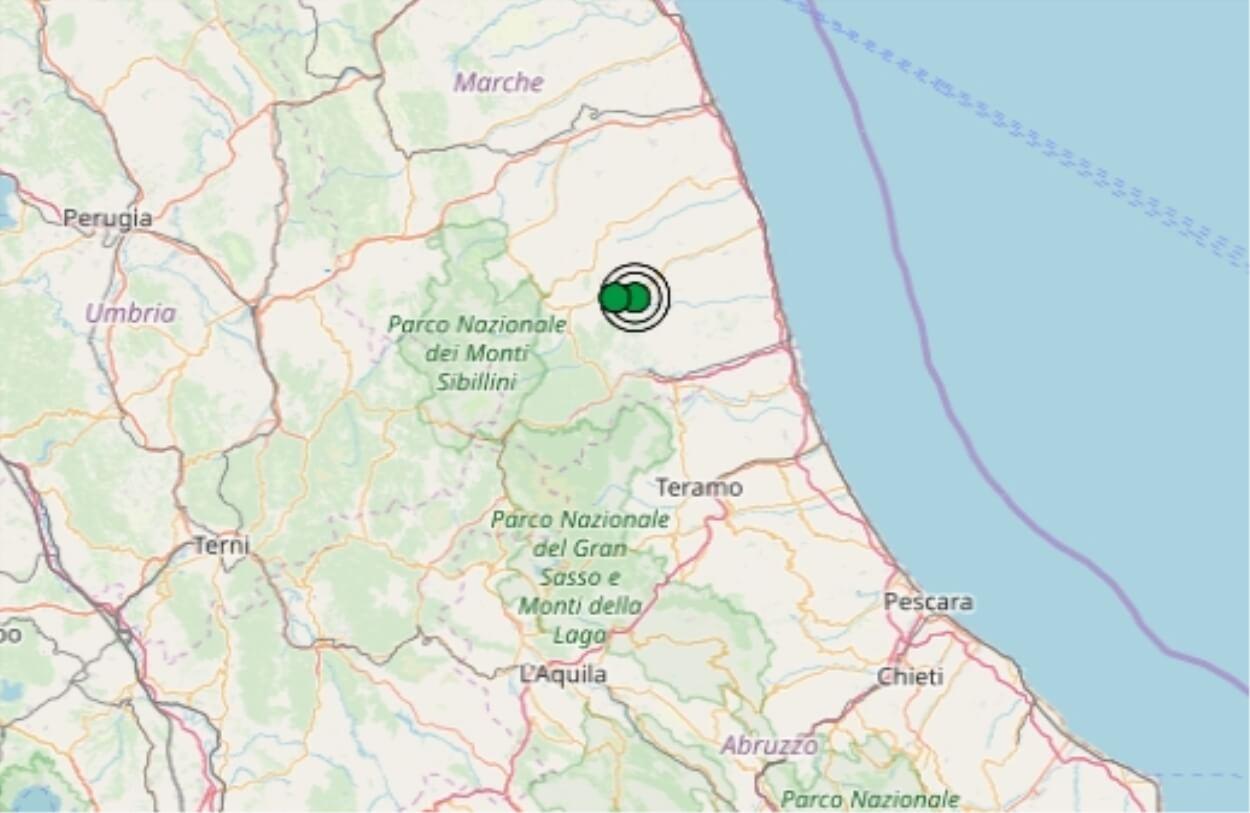 Terremoto nelle Marche oggi, 6 novembre 2019, scossa M 2.3 ...