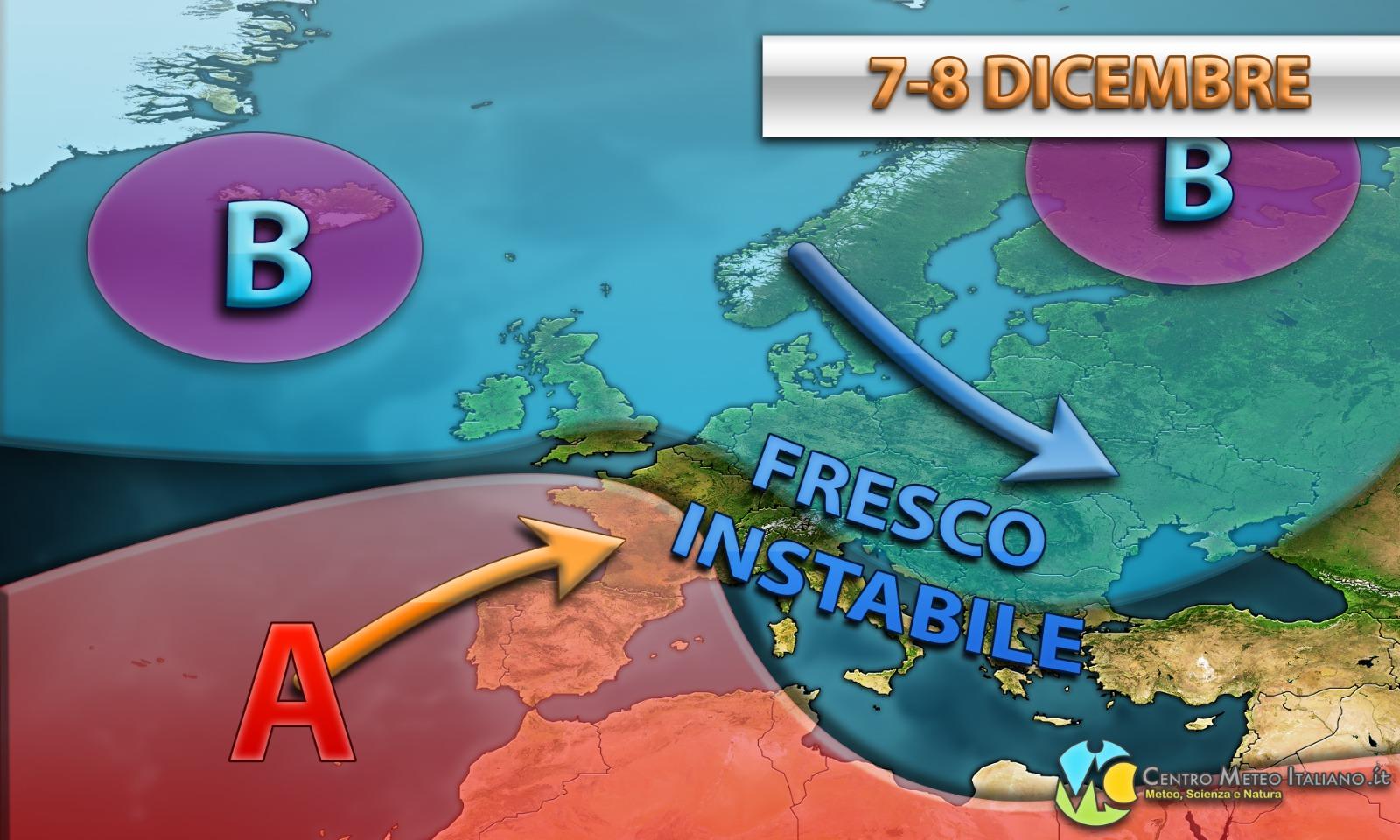 Clima fresco e a tratti instabile per l'Immacolata ma l'inverno resta ancora lontano