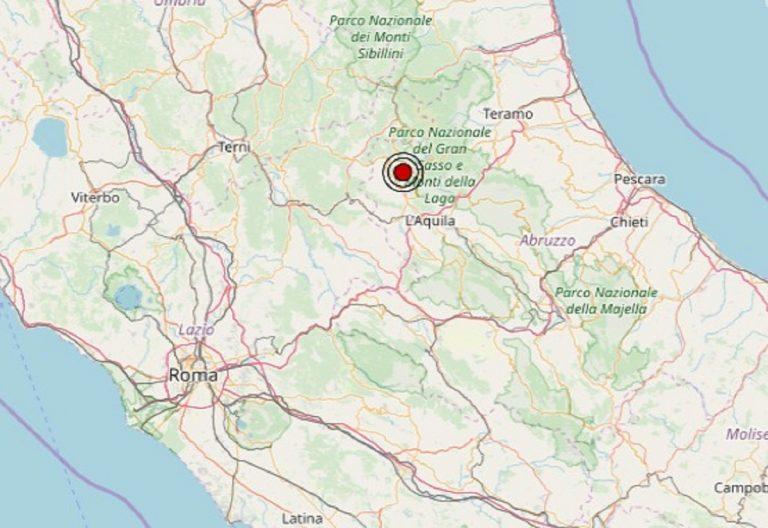 Terremoto in Abruzzo oggi, martedì 10 dicembre 2019: scossa M 2.3 in provincia de L'Aquila – Dati INGV