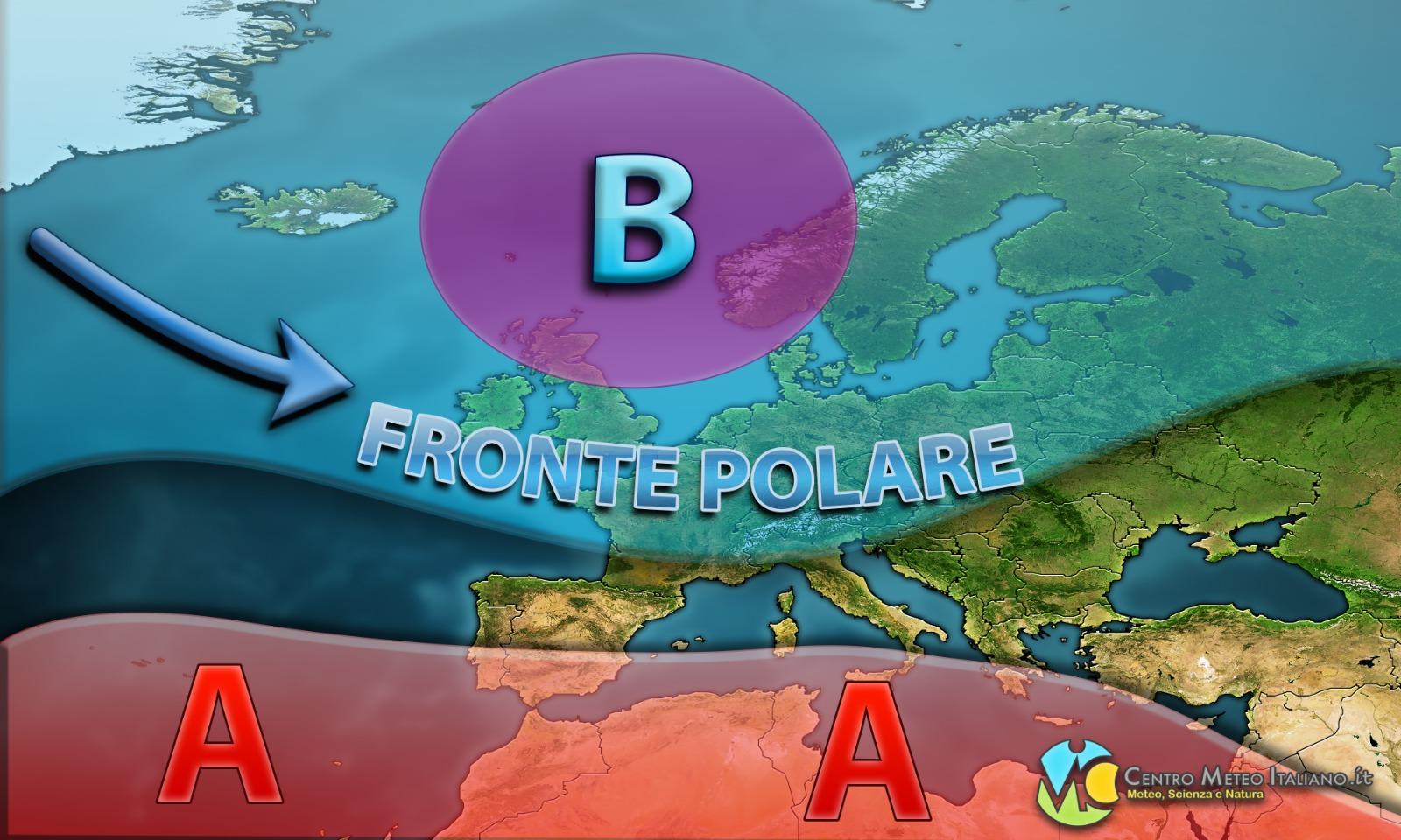 Fronte polare imminente sull'Italia con maltempo ma anche neve