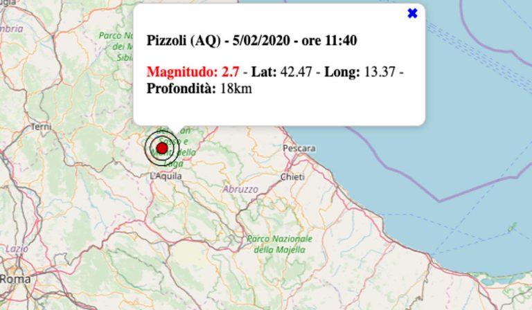 Terremoto oggi in Abruzzo, 5 febbraio 2020: scossa M 2.7 in provincia de L'Aquila | Dati INGV