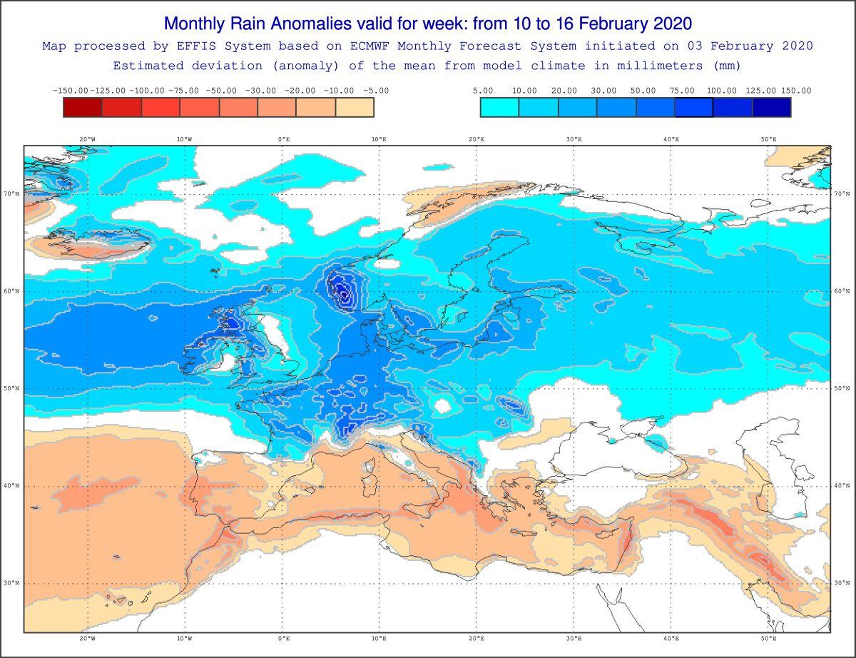 Tendenza meteo settimana 10-16 febbraio 2020