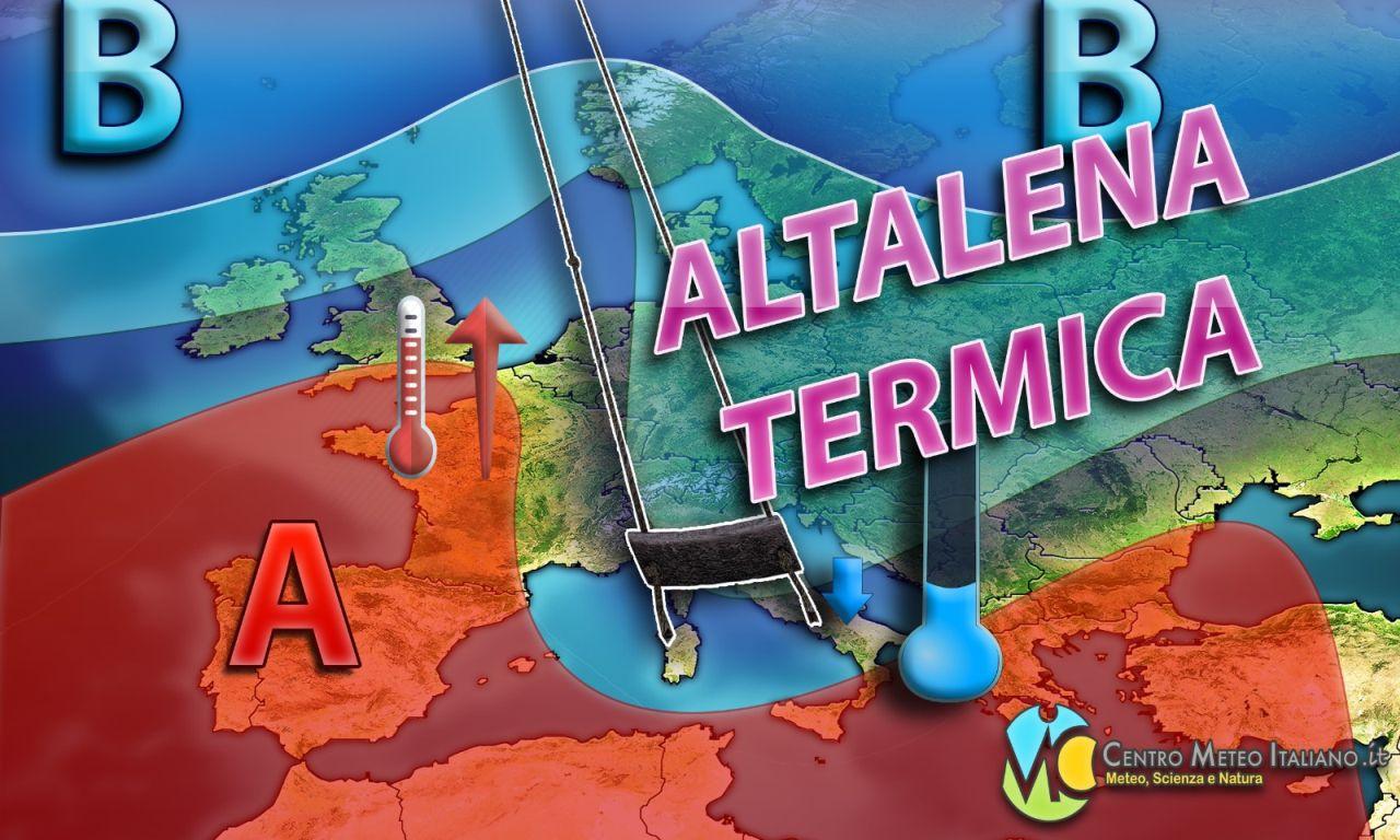 Prosegue l'altalena termica in Italia nei prossimi giorni.