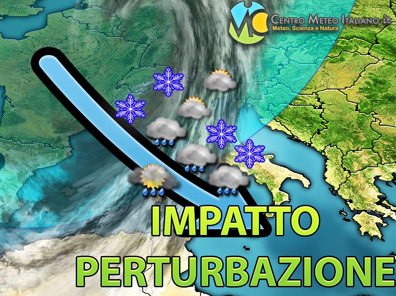 METEO ITALIA – Le PREVISIONI, perturbazione verso l'IMPATTO sull'ITALIA, altra raffica di MALTEMPO e NEVE in arrivo