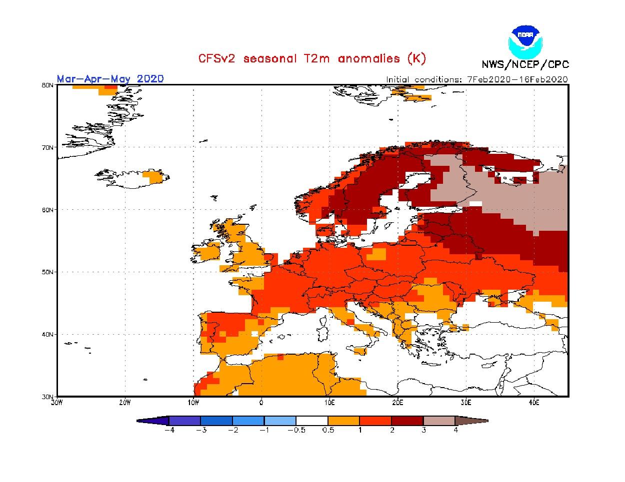 Anomalie di temperatura previste dal modello CFS per la primavera 2020 - cpc.ncep.noaa.gov.jpg